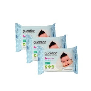 Guardian Baby Wipes Fragrance Free 3 x 20s