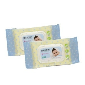Guardian Baby Wipes Fragrance Free 2 x 90s