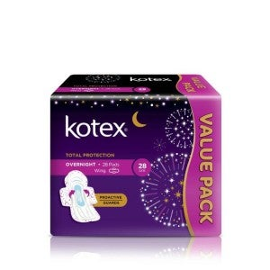 Kotex Soft & Smooth Proactive Guard Overnight  Wing 28cm 14'sx2