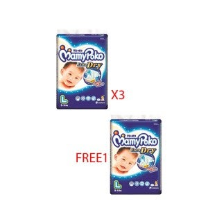 (Buy 3 Free 1) MamyPoko Extra Dry Diapers Pooh L32 -4x53747