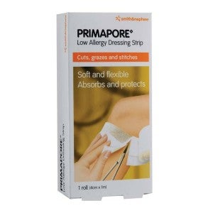 S&N PRIMAPORE Low Allergy Dressing Strip (Roll) 4cm x 1m