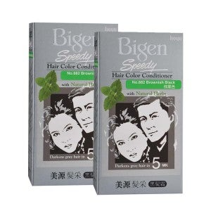 Bigen Speedy Hair Color Conditioner 882 Brown Black Pack-of-2