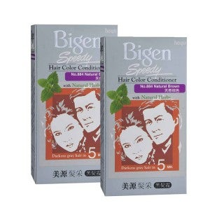 Bigen Speedy Hair Color Conditioner 884 Natural Brown Pack-of-2
