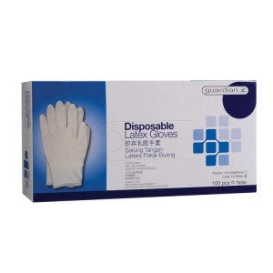 Guardian Disposable Latex Gloves Large 100s