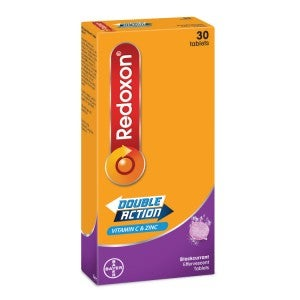Redoxon Effervescent Double Action C 1g Blackcurrant 30 Tablets