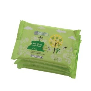Guardian Wet Wipes Apple Fresh 3x10s