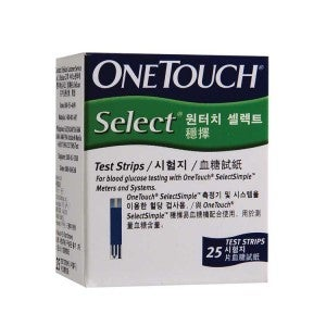 One Touch Select Test Strips 25s