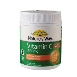 Nature's Way Vitamin C 500mg Chewable Orange Flavor 200s