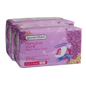 Guardian Pantyliner Unscented 40s Pack-of-2