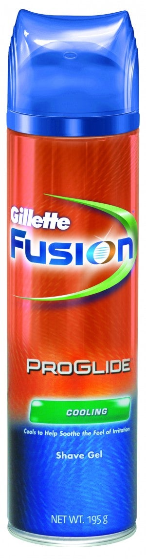 Gillette Fusion Proglide Cooling Shave Gel 195ml