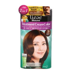 Liese Blaune Treatment Cream Hair Color KT3 Lighter Brown