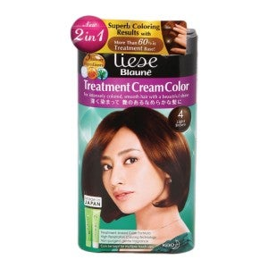 Liese Blaune Treatment Cream Hair Color KT4- Light Brown