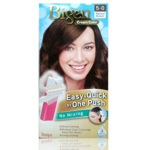 Bigen Cream Color One Push 5-0 Natural Brown