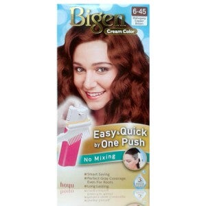 Bigen Cream Color One Push 6-45 Light Caramel Brown