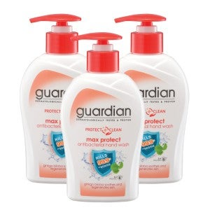 Guardian Protect Care Antibacterial Max Protect Hand Wash 250ml -Pack Of 3