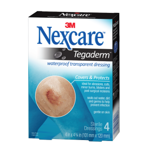 3M Nexcare Tegaderm Waterproof Transparent Dressing 4's