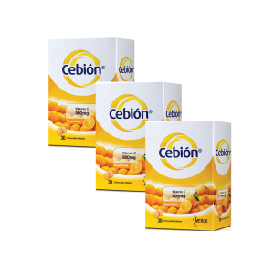 Cebion Vitamin C 500mg Chewable Tablets 3x30s