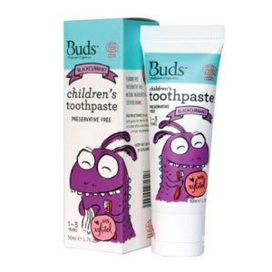Buds Children's Toothpaste With Xylitol Blackcurant 50ml