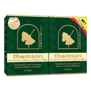 Thomson Activated Ginkgo 40mg 30's (Buy 1 Free 1 on-pack)