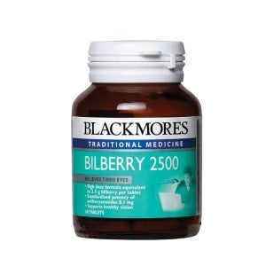 **Blackmores Bilberry 2500mg 60 Tablets