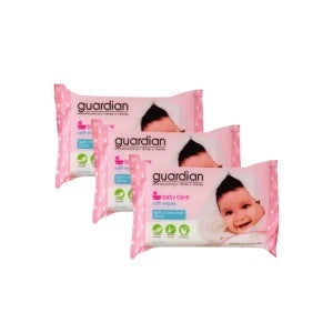 Guardian Baby Wipes Chamomile 3 x 20s