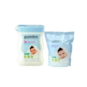 Guardian Baby Wipes Fragrance Free 120s + 100s