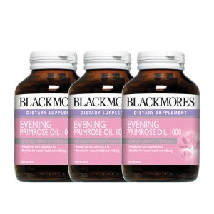 **Blackmores Evening Primrose Oil 1000mg 100 Capsules Pack-of-3