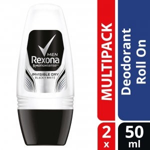 Rexona Men Invisible Dry Roll On Deodorant 40ml Pack Of 2