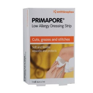 S&N PRIMAPORE Low Allergy Dressing Strip (Roll) 6cm x 1m