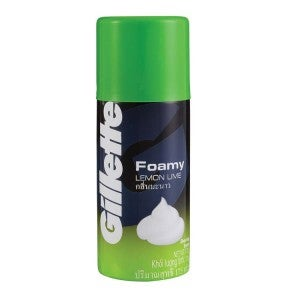 Gillette Foamy Lemon Lime Shaving Foam 175g