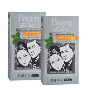 Bigen Speedy Hair Color Conditioner 881 Natural Black Pack-of-2
