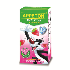 Appeton A-Z Kid's Vitamin C Strawberry/Blackcurrant Flavour 100's