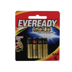 Eveready Gold AAA4s