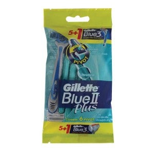 Gillette Blue II Plus Ultra Grip Pivot Disposable Razors 5s