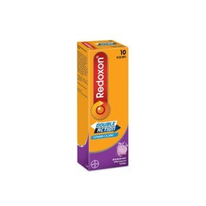 Redoxon Double Action Effervescent Tablets 10s Blackcurrant