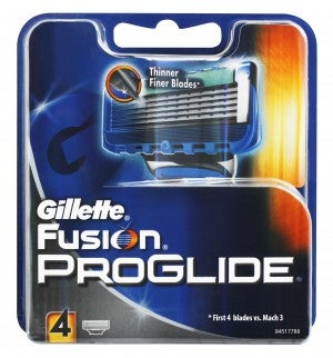 Gillette Fusion Proglide Base Cartridges ( 4 pieces)