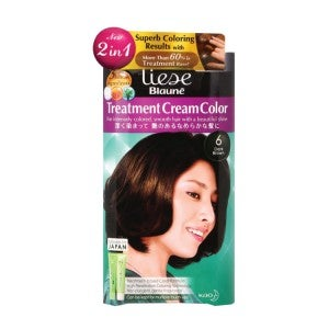 Liese Blaune Treatment Cream Hair Color KT6- Dark Brown