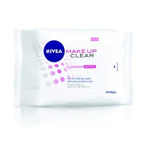 NIVEA Extra White Make Up Clear Cleansing Wipes 25pcs
