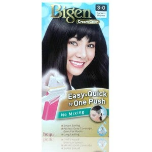 Bigen Cream Color One Push 3-0 Darkest Brown