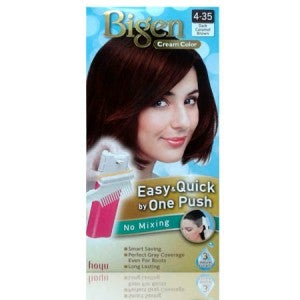 Bigen Cream Color One Push 4-35 Dark Caramel Brown