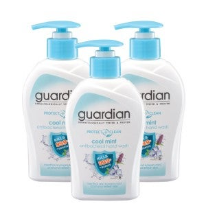 Guardian Protect Care Antibacterial Cool Mint Hand Wash 250ml -Pack Of 3