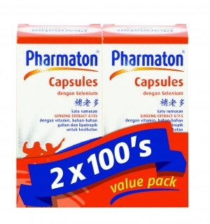 Pharmaton Capsules 100's Pack Of 2
